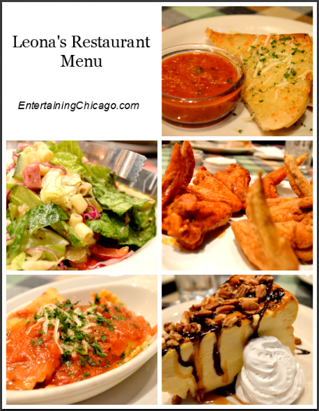 Leona's Restaurant Menu