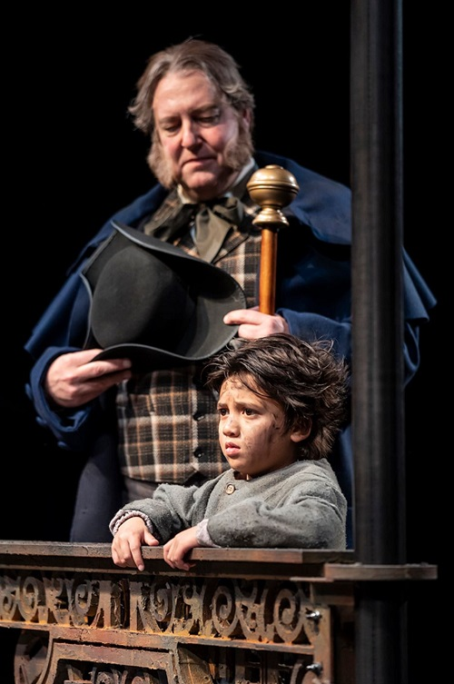 Kai Edgar and Matthew R. Jones in Oliver!
